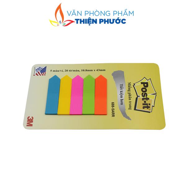 giấy note 5 màu nhựa post-it 3M chính hãng
