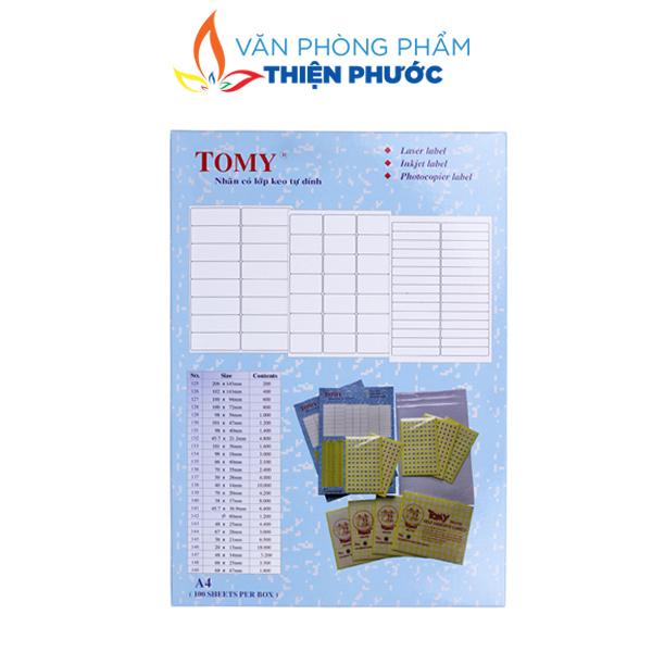 giấy decal đế xanh tomy A4 135