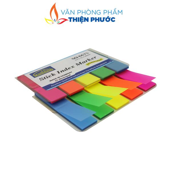 giấy note 5 màu nhựa suremark SQ6675
