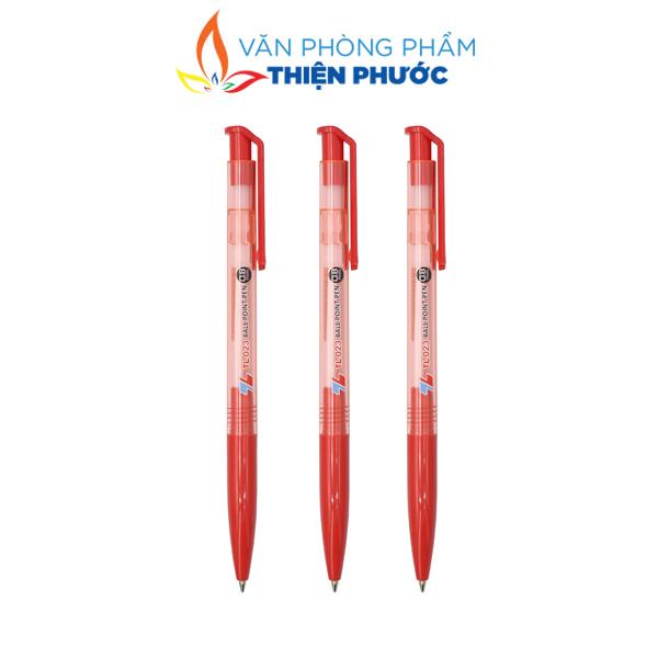 Bút bi thiên long 023 đỏ chính hãng
