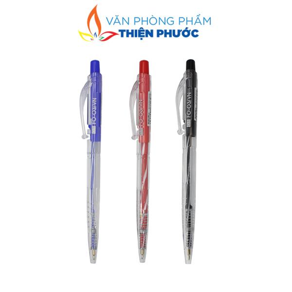 Bút bi thiên long FO-03 xanh