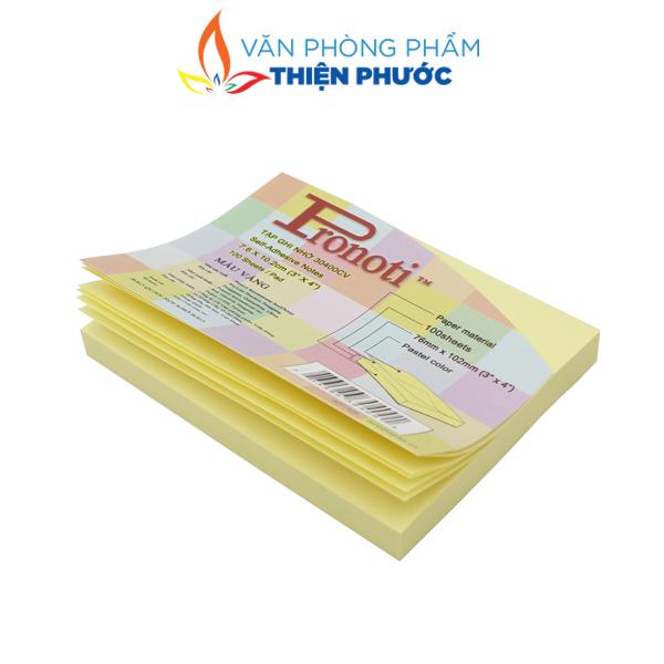 giấy note vàng Pronoti 3x4